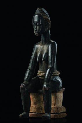 Seated Female Figure - Côte D'ivoire, Baule