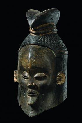 "Helmet Mask ""hemba"" - D. R. Congo, Suku"