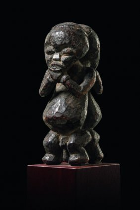 "Small Janiform Power Figure ""mu Po"" - Cameroon"