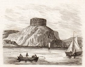 View Of Old Fort In Rhode Island. Usa. 1836.