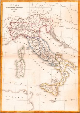 Map Of Italy. Europe. 1854.