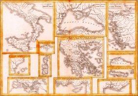 Map Of Greek Colonies. Europe. 1854.
