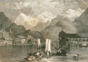 Loading The Shipment. Switzerland. 1833.
