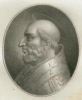 Quirin Mark. Portrait Of Saint Julius. 1809.