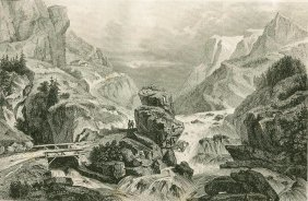 Road Over The Filifjeld. Norway. 1838.