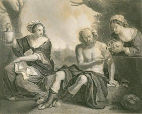 Guercino. Loth And His Daughters. Italy. 1877.