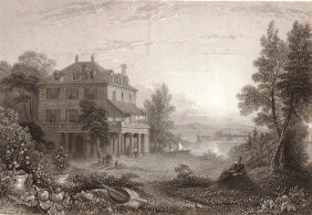 Diodati The Residence Of Lord Byron. Switzerland. 1833.