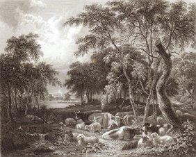 A Scene From Thompson's Seasons Summer. Scotland. 1834.