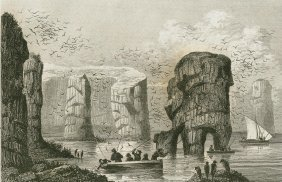 Rocks Of Feroe. Faroe Islands. 1842.