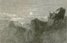 Death Of Mozes On Mount Nebo. Jerusalem. 1872.