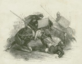 Alaric Killed By Clovis. England. 19th.