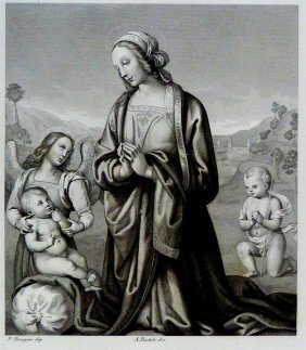 Pietro Perugino. The Virgin Who Loves The Saint Child.