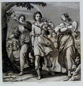 Matteo Rosselli. The Triumph Of David. Italy. 1842.