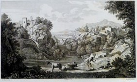 Gaspard Poussin. Landscape. France/italy. 1842.