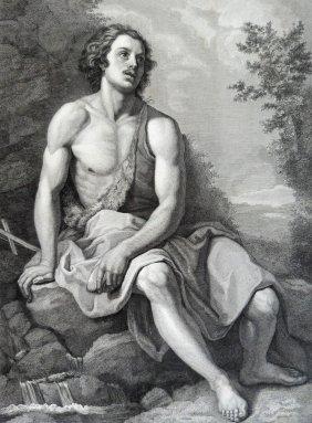 Allori. Saint John In The Desert. Italy. 1842.