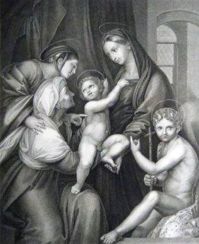 Raffaello Sanzio Da Urbino. Holy Family. Italy. 1843.