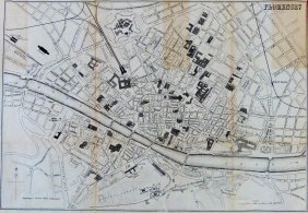 City Plan Of Florence. Italy. 1903.