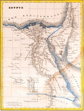 Map Of Egypt. Africa. 1835.