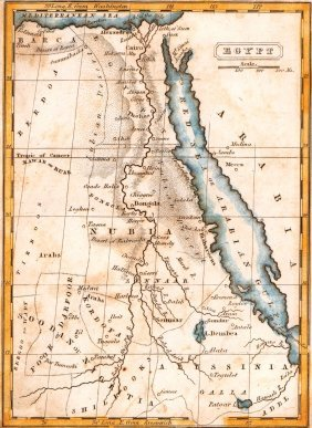 Map Of Egypt. 1839.
