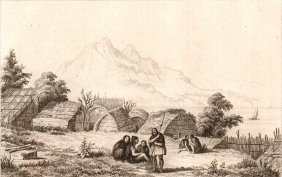 View From Inside Of A Pah. New Zealand. 1837.
