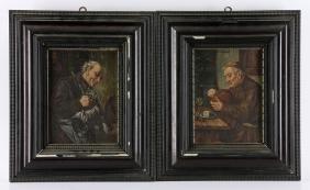 Von Grutzner, Monks, 2 Oil Paintings