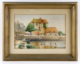 "Chausson, ""La Lieutenance,"" Watercolor"