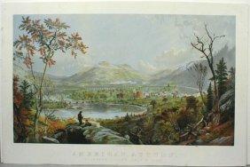 J.F. CROPSEY, AMERICAN AUTUMN, LITHO, C. 1870