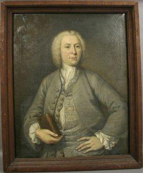 18th CENTURY BRITISH SCHOOL PORTRAIT, O/C