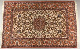 "Persian Tabriz, Semi Antique, 7' 2"" X 4' 10"""