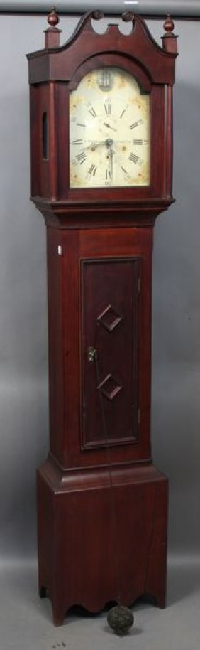 6094: Early 19th C. Seth Thomas Grandfather Clock : Lot 6094
