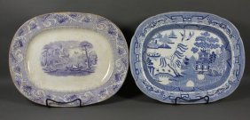 (2) 19th C. English Transferware Platters