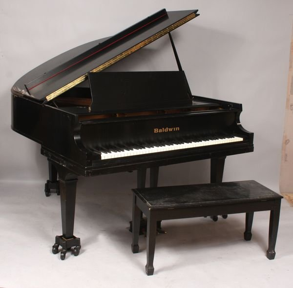 2157a Baldwin Baby Grand Piano M 146628 W Bench Lot 2157a