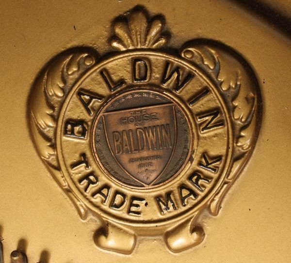 2157a Baldwin Baby Grand Piano M 146628 W Bench Lot 2157a