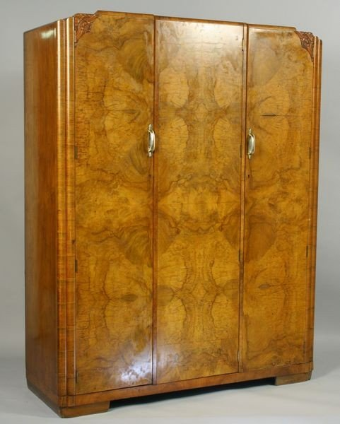 4077 1920s art deco french armoire lot 4077. Black Bedroom Furniture Sets. Home Design Ideas