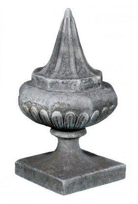 Large English Dry Cast Limestone Finial