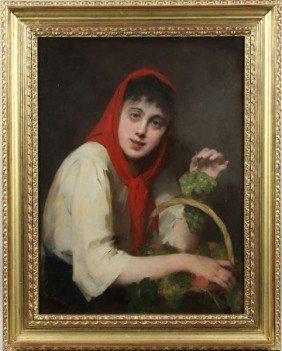 """Deschamps, """"Grape Harvest"""", O/C"""