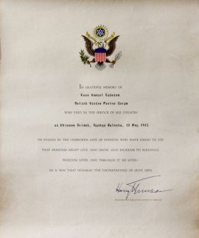 Truman Signed Document