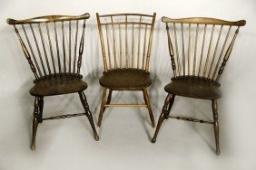 3 Windsor Chairs