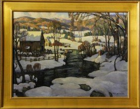 """Knowles, """"White Mountain Farm"""", O/C"""