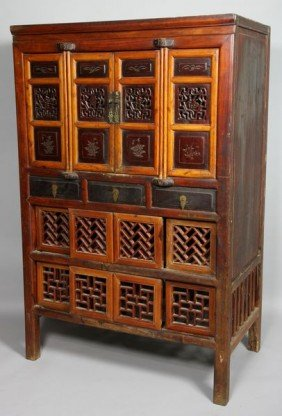20th C. Chinese Wood Cabinet