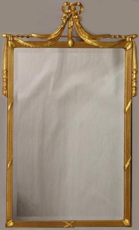 Mirror With Gold Bow Detail