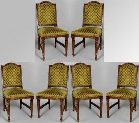 6 Regency Style Dining Chairs