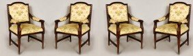 4 Regency Style Arm Chairs