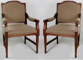2 Checkered Dining Chairs