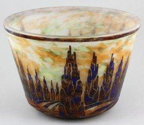 Rare Le Verre Fran�ais Cameo Glass Cache Pot