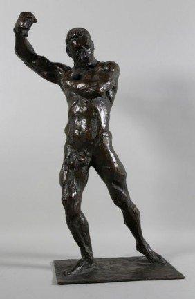Panzeri, Bronze Of Nude Male