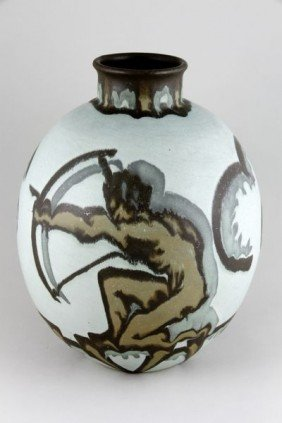 Villory & Boch Luxemburg, Archers, Art Deco Vase