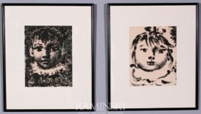 Picasso, Pair Of Lithographs
