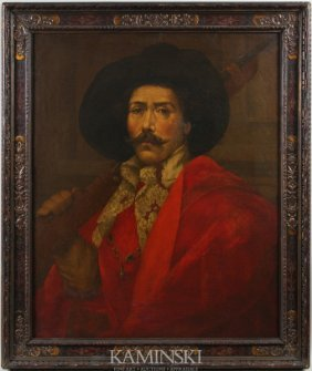 19th C. Painting Of A Spanish Conquistador