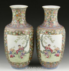 19th C. Chinese Famille Rose Vases